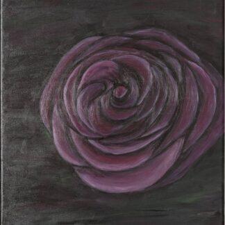 TRANDAFIRUL - pictură, acrilic pe pânză -