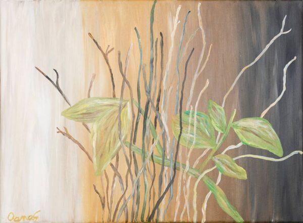 FRUNZE DE TOAMNĂ - pictură, acrilic pe pânză